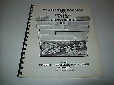 PAC-MAN PLUS By MIDWAY ORIGINAL VIDEO ARCADE GAME MANUAL PACMAN/MS PAC MAN CONV.