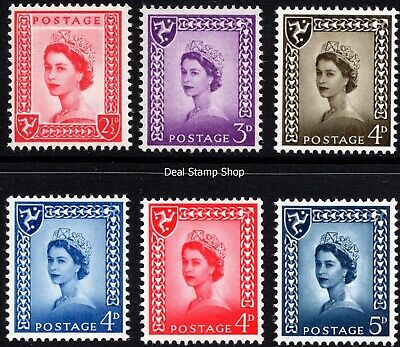 GB 1958-69 Isle of Man Pre-Decimal Definitive Basic Set of 6 - Unmounted Mint