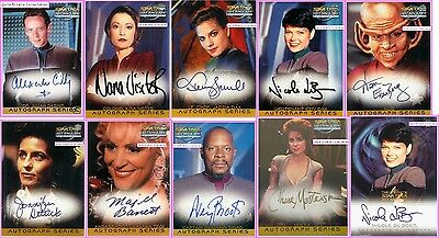 A4 A6 A7 Auto Star Trek DS9 Dax Sisko Nerys Autograph Signed Trading Card