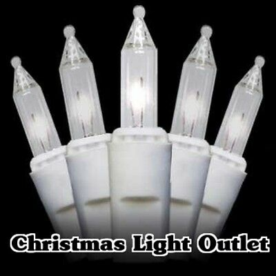 35 Mini Clear Straight-Line Glass Block Xmas Craft String Lights 10ft White Wire