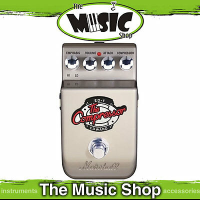 """New Marshall ED1 """"The Compressor"""" Guitar Effects Pedal - ED-1 Compressor Pedal"""