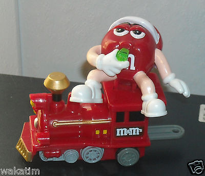 Red M&M's Mars Candy 2005 Train Red Engine Ornament Christmas Holiday NEW