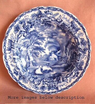Vintage PICTORIAL SAUCER,Blue & White,BOOTHS,British Scenery,England