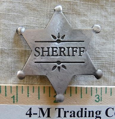 SHERIFF 6 Pt Star BADGE #17 (BADGES  OF THE OLD WEST)