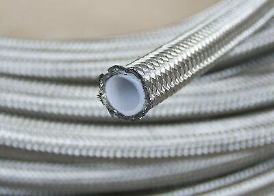 AN -6 AN6 Stainless Braided PTFE Teflon Fuel Line Oil Gas Hose 1M 3FT ID=7.9mm