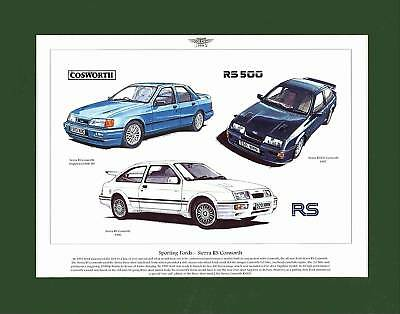 Golden Era Mounted Print -  Sierra Rs Cosworth