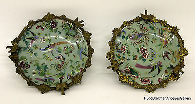 Chinese Style French Bronze Mounted Porcelain Platters