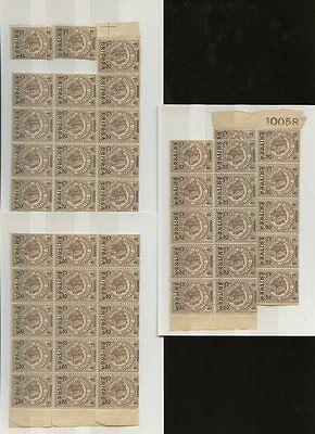 ERITREA 1922 ELEPHANT BENADIR of SOMALIA 2c on 1c MINT UM...50 stamps...Lot 1