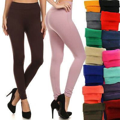 N21 Brushed Stretch Fleece Lined Thick Tights Winter Pants Warm Leggings One SZ