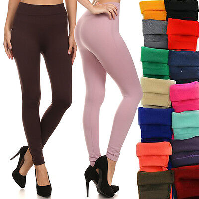 N21 Brushed Stretch Fleece Lined Thick Winter Pants Leggings High Quality SS9000