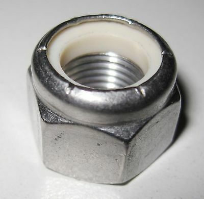 "1/4"" UNF Nyloc Nut - A2 Stainless Steel (Qty 10)"