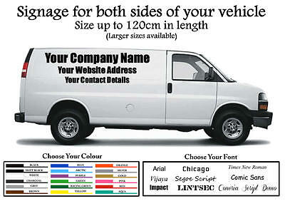 BUSINESS COMPANY VINYL Signage Decal Stickers Vehicle Van Lorry Truck  Trailer