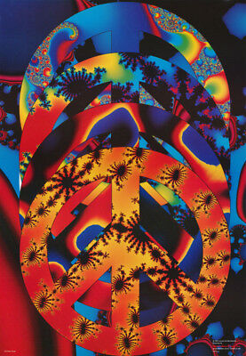 Poster :  Psychedelic : Peace Quad   -   Free Shipping !  #F9  Rc27 Q
