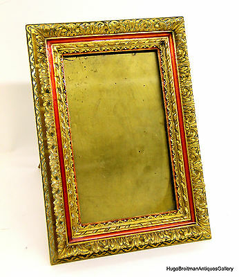 "French Enamel and Gilt Bronze ""G. Vigneron, Paris"" Picture Frame"