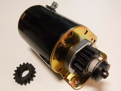 16 tooth Starter Motor replace Briggs and Stratton short & fits Ride On Mower