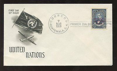 Guatemala 1959 United Nations First Day Cover