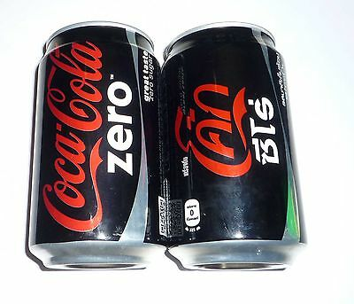 Coca Cola ZERO can THAILAND Collector Black Red Coke Thai Language 2013 Asia