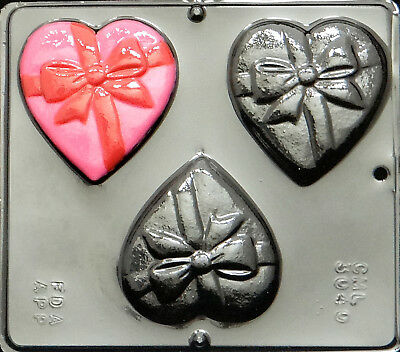 """1/"""" Heart Chocolate Candy Mold Valentine  3014 NEW"""