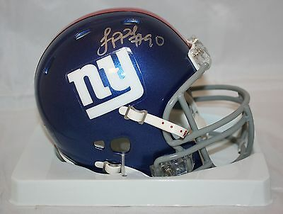 Jason Pierre Paul Autographed New York Giants Revolution Mini Helmet- JSA Auth