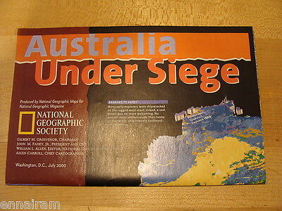 National Geographic Society Map 2000 Australia Under Seige