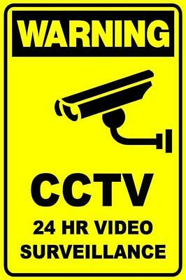 (2 X Signs)  Cctv Security Camera 24Hr Video Surveillance Sign - 300 X 225Mm