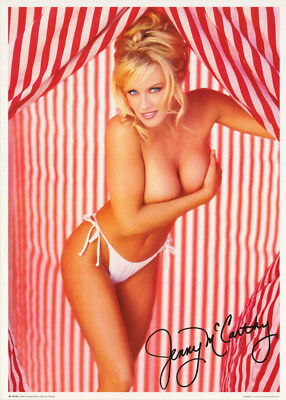 POSTER: JENNY McCARTHY - RED & WHITE-SEXY FEMALE MODEL-FREE SHIP #FPO406  RC42 G