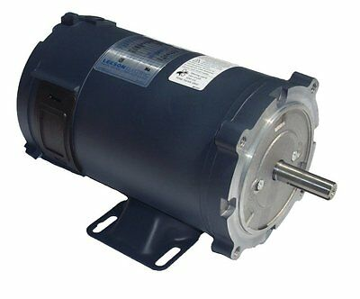 1/2 hp 1800 RPM 56C Frame 12 Volts DC TENV Leeson Electric Motor # 108047