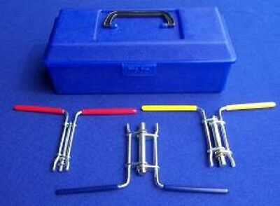 New Hydraulic Cylinder Rod Seal Installation Tool 3 Pc Kit Prevents Damage