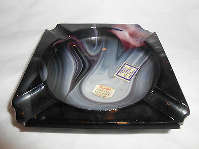Imperial Purple Slag Ashtray With Both Tags (1)