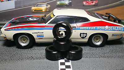 """XPG"" URETHANE SLOT CAR TIRES 2pr PGT-21104 fit SCALEXTRIC FORD FALCON XB GT"