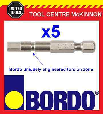 5 x BORDO IMPACT HX5 X 50mm POWER INSERT BITS – GEAT FOR IMPACT DRIVERS!