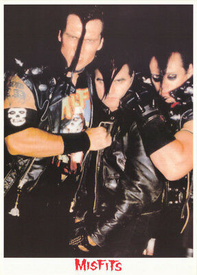 Poster : Music :  Misfits - Black Leather - Free Shipping !   Rc47 G