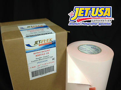 "JetFlex Flexo Mounting Tape: Bound Mount 300T42-18 / .015"" x 18"" x 27 yds"