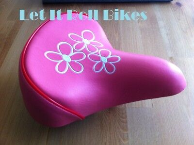 DDK Bike Seat Saddle for Kids Bicycle Spare Replacement Pink Purple
