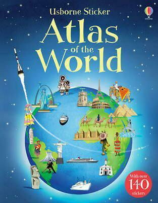 Sticker Atlas of the World by Alice Pearcey (English) Paperback Book Free Shippi