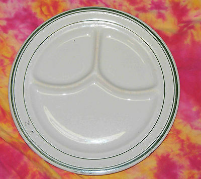 "1) Vtg. COLLECT.""WELLSVILLE"" CHINA DIVIDED RESTAURANT DIN PLATE-SEE PICS & INF"