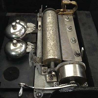 historical music box vintage music chiming cylinder old musical mechanism Japan
