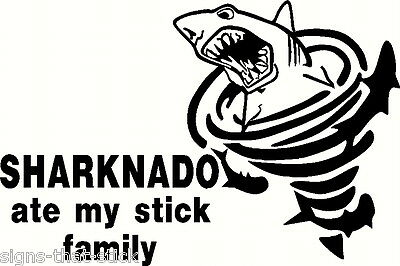 Sharknado Shark Sticker Funny Anti Stick Figure Family