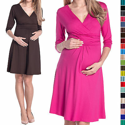 Happy Mama Women's Pregnancy Maternity Casual Dress Knee Length 282p