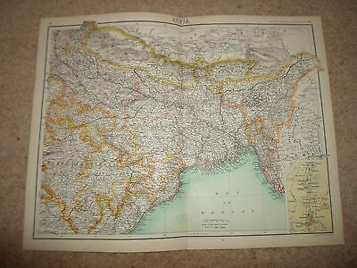 c1900 Map ~ INDIA - SECTION 2  ~ Bartholomew From XXth Century Citizen's Atlas