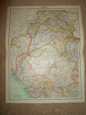 c1900 Map ~ INDIA - SECTION 1  ~ Bartholomew From XXth Century Citizen's Atlas
