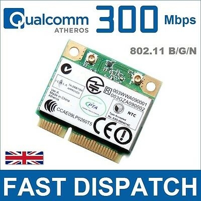 ATHEROS 300Mbps Half Height Mini PCI Express Card LAPTOP NETBOOK TABLET Wi-Fi