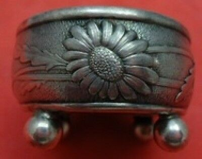Vine by Tiffany & Co. Sterling Silver Salt Dip with Daisy Motif & 4 Ball Feet