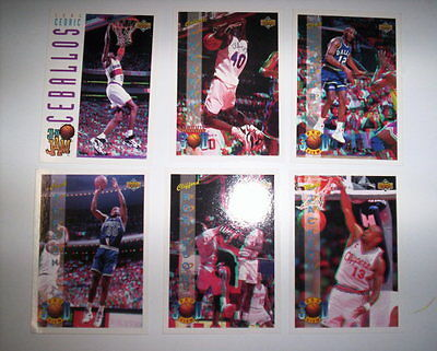 Lot 6 Cartes De Basket Nba Upper Deck 1994 3D Pro View / 1 3D Jam