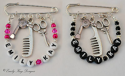 Personalised Hairdressers/ Salon / Bag / Tunic Charm / Thank You  Gift