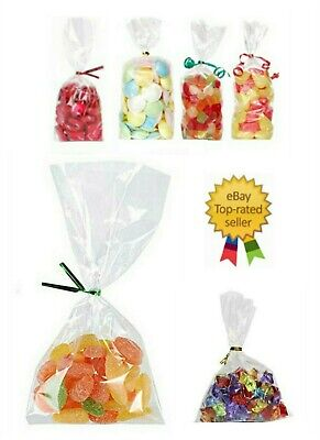 "CLEAR CELLO DISPLAY BAGS FOR LOLLIPOPS, CAKE POPS, SWEETS 7""x10"""
