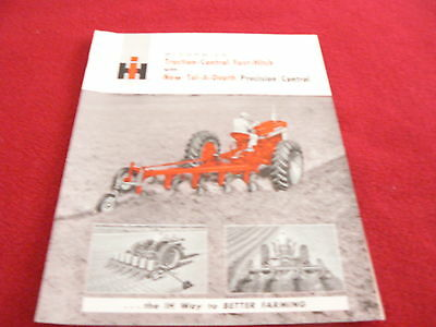 International Harvester Traction Control Fast Hitch Tractor Dealer's Brochure