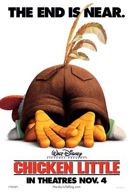 CHICKEN LITTLE MOVIE POSTER 2 Sided ORIGINAL Advance Version B 27x40