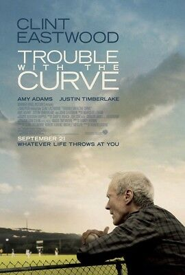 TROUBLE WITH THE CURVE MOVIE POSTER 2 Sided ORIGINAL 27x40 CLINT EASTWOOD