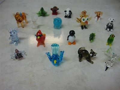 CHOOSE 3 MINIATURE GLASS ANIMALS FROM A SELECTION OF DOZENS FOR ONE LOW PRICE!